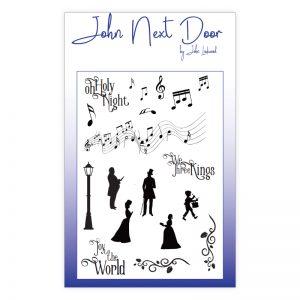 John Next Door – Christmas Music Clear Stamps