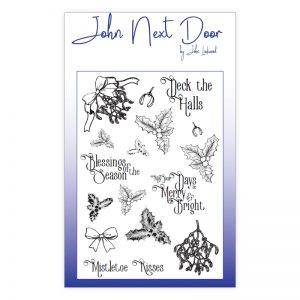 John Next Door – Deck the Halls Clear stamp