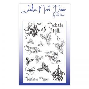John Next Door – Deck the Halls Clear stamp