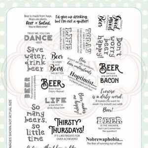 Beer Happy A5 Clear Stamp Set