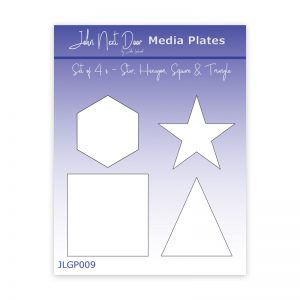 John Next Door Media Plate – Set of 4 – Star, Hexagon, Square & Triangle